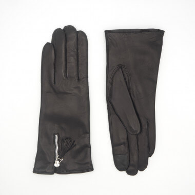 ANNIINA Kosketusnäyttökäsine Lambnappa BLACK 100% Wool