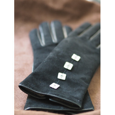 MARLE Lambnappa/suede BLACK Cashmere blend