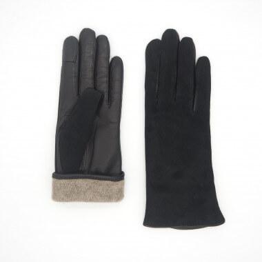 MELINA Kosketusnäyttökäsine Lambsuede BLACK Cashmere blend
