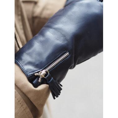 ANNIINA Kosketusnäyttökäsine Lambnappa NAVY 100% Wool