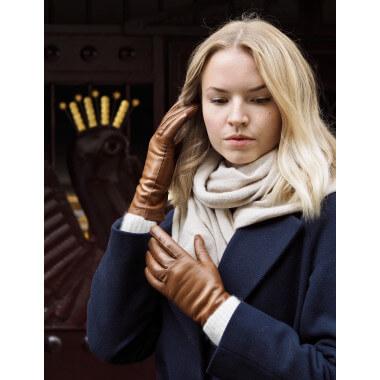 KAISA Lambnappa SADDLE BROWN 100% Wool
