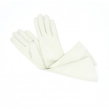 "Lempi 8"" Lambnappa WHITE 100% Silk"
