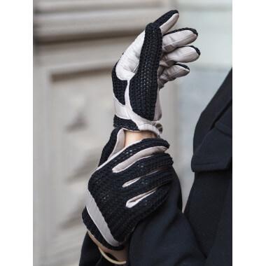 BELLA Lambnappa/cotton knit BLACK/GRIS MOYEN Unlined
