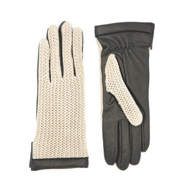 EDIT Deer/cotton knit NATURAL/BLACK Cashmere blend