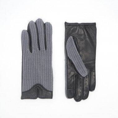IIVO Kosketusnäyttökäsine Nappa/cotton Unlined GREY/BLACK