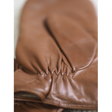 BRIT Lambnappa SADDLE BROWN/NATURAL Cashmere blend
