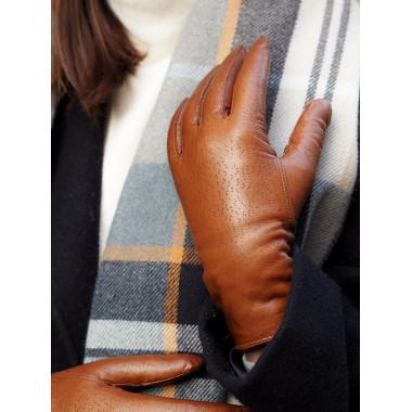 MARTTA Lambnappa SADDLE BROWN 100 % Wool