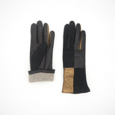 VANESSA Lambnappa BLACK/BRONZE Cashmere blend