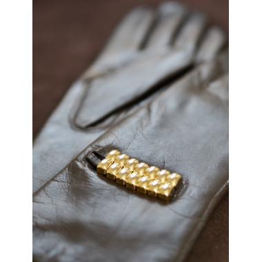 RAGNI Lambnappa DARK BROWN/GOLD 100% Wool