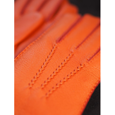 ALICE Deer ORANGE 100% Cashmere