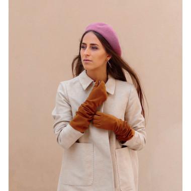 LEMPI Reindeer suede CAMEL 100% Silk
