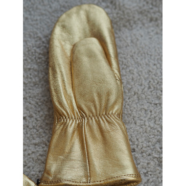 BABY MITTENS Reindeer Curly Lamb GOLD