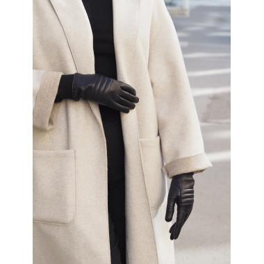 BETTINA Kosketusnäyttökäsine Lambnappa BLACK 100 % Silk