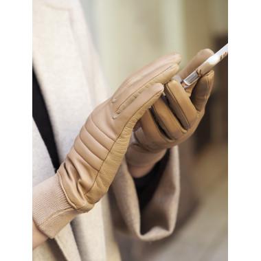 BETTINA Kosketusnäyttökäsine Lambnappa 100 % Silk NUDE