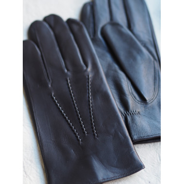 VEETI Kosketusnäyttökäsine Lambnappa BLACK 100% silk