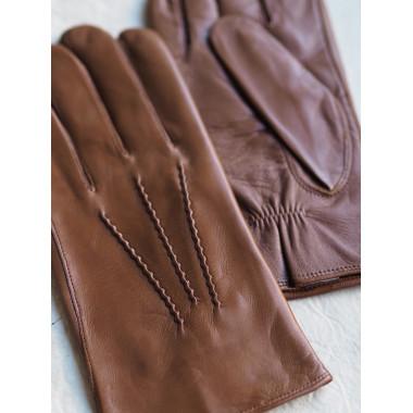 VEETI Kosketusnäyttökäsine Lambnappa SADDLE BROWN 100% silk