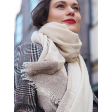 FORTUNA Virgin Wool Scarf BEIGE