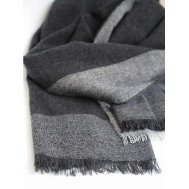 FORTUNA Virgin Wool Scarf DARK GREY