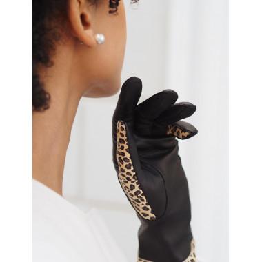 ILTA Lambnappa BLACK/LEOPARD 100% Silk
