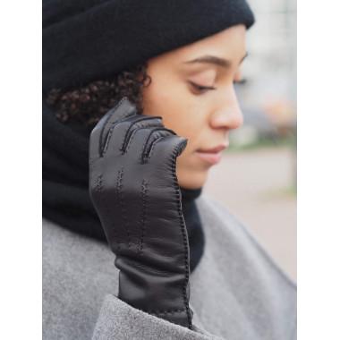 MAXINE Lambnappa Cashmere blend BLACK