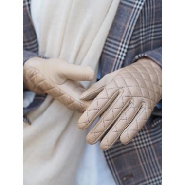 CRISTEL Kosketusnäyttökäsineet Lambnappa 100% Silk NUDE