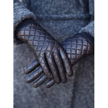 CRISTEL Kosketusnäyttökäsineet Lambnappa 100% Silk BLACK