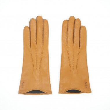LIIA Kosketusnäyttökäsine Lambnappa CORK 100% Silk