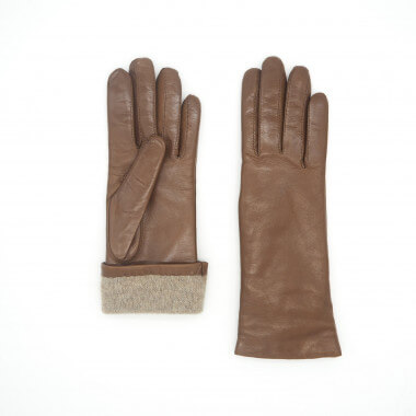 LAINA LF Lambnappa SADDLE BROWN Cashmere blend