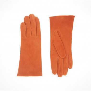 KAISA Reindeer suede ORANGE 100% Silk