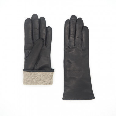KAISA Lambnappa BLACK Cashmere blend