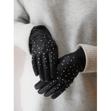 ELISE Lambnappa BLACK Cashmere blend