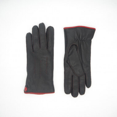 KIM Deer 100% Wool BLACK/RED